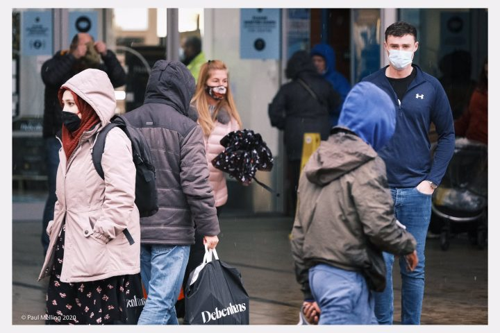 Face masks being worn on the streets of Preston during Friday (4 December) Pic: Paul Melling