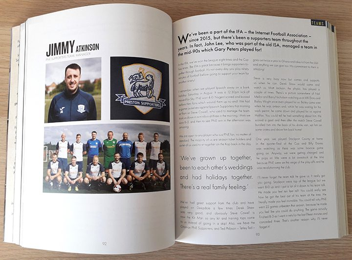 PNE Supporters team manager Jimmy Atkinson features in the book Pic: Michael Barrett