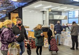 Shoppers at Preston Markets during the pandemic Pic: Tony Worrall