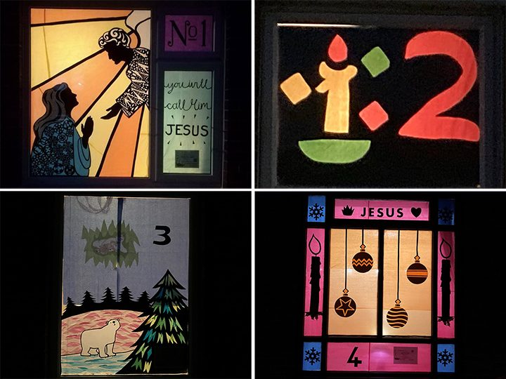 Days 1 to 4 of the Advent Window Display Pic: St Stephen's Church / Facebook