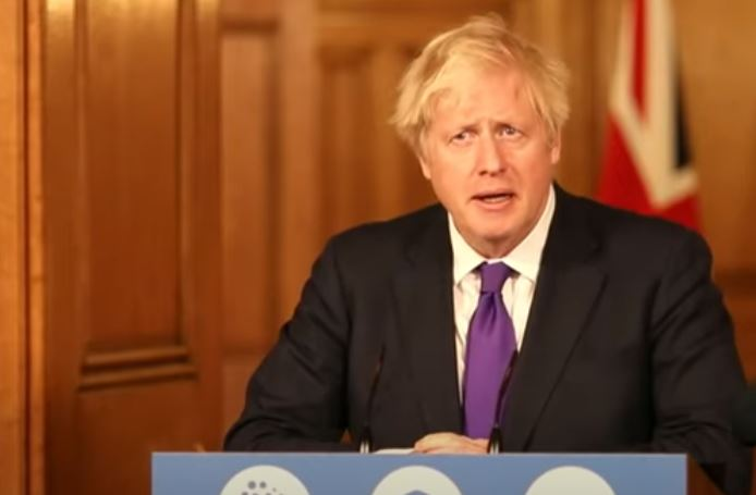 The Prime Minister led a press conference during Wednesday afternoon to give a range of Covid-related updates Pic: YouTube/No10DowningStreet