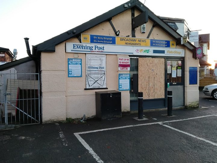 Boarded up window at Broadway News in Fulwood Pic: Blog Preston