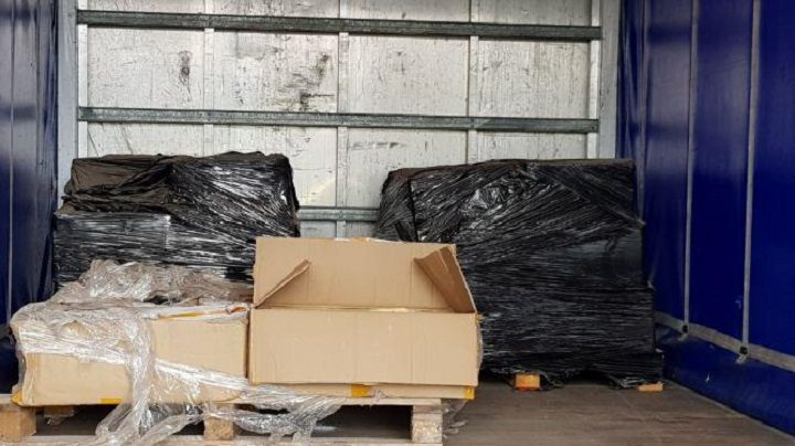 What police found in the back of the lorry at Wheeton Pic: National Crime Agency