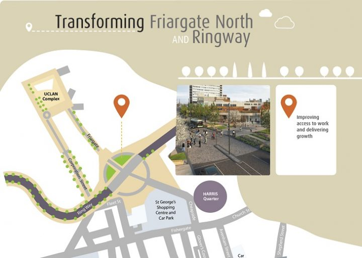 What's planned for the Ringway end of Friargate Pic: Lancashire County Council