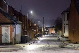 A wintry looking Good Street in Preston Pic: Joseph Gudgeon