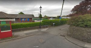 The bollards have been temporarily removed from Greenbank Road