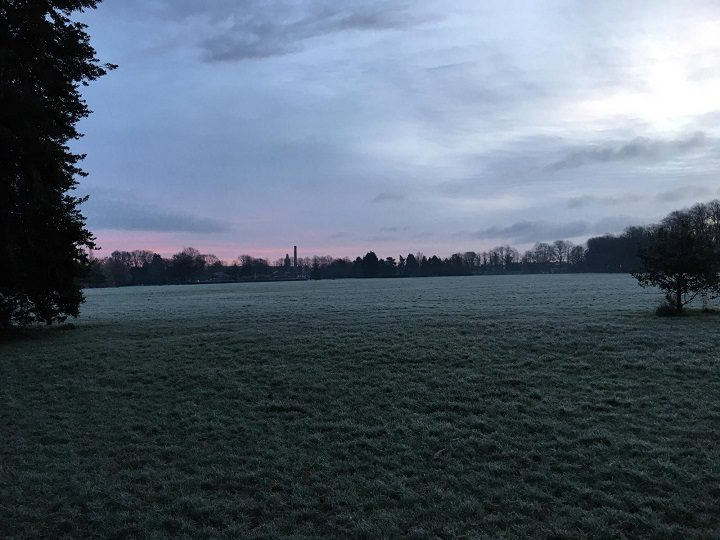 An icy looking Haslam Park on Wednesday (30 December) Pic: Blog Preston