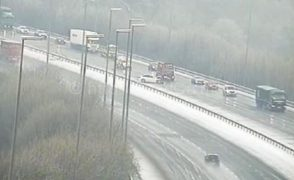 Vehicles being attended to on the M6 at Junction 31 Pic: Highways England