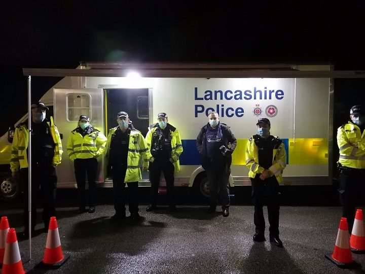Lancashire Police preparing to undertake an anti-social behaviour operation in December Pic: South Ribble Police
