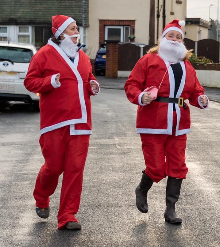 Santa dashing! Pic: David Duxbury