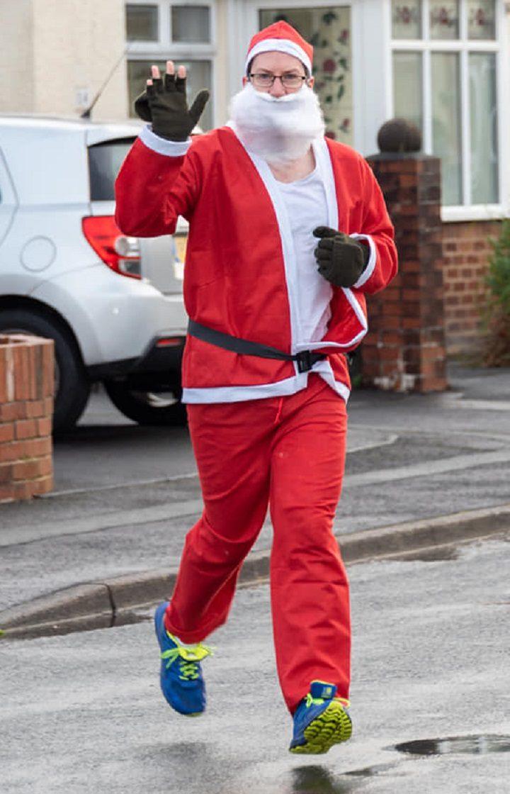 Blog Preston founder, Ed Walker, was among those taking part in the Santa Dash Pic: David Duxbury