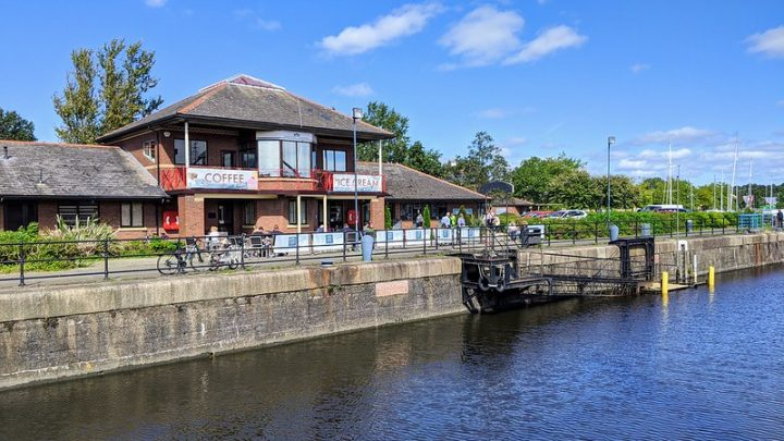 The Beach Hut Cafe in Preston Docks during warmer days Pic: Tony Worrall