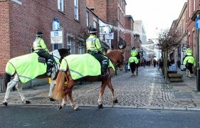Mounted police officers pictured in Preston city centre during December Pic: Tony Worrall