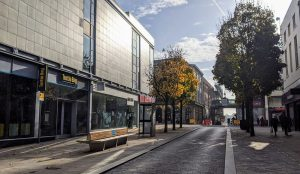 A very quiet Preston city centre during the second national lockdown in November 2020 Pic: Tony Worrall