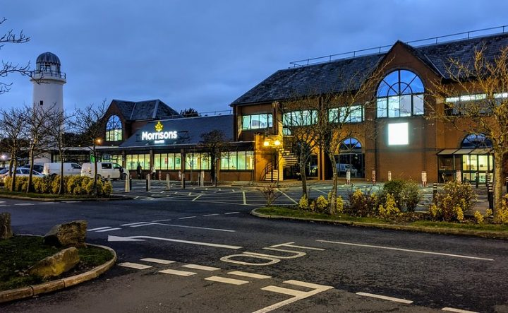 Morrison's at Preston Docks, the supermarket has vowed to refuse entry to customers who will not wear a mask Pic: Tony Worrall