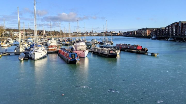 A frozen Preston Docks as early January begins cold and lockdown shows no signs of thawing Pic: Tony Worrall