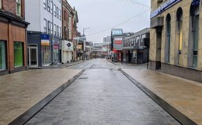 An empty Lune Street in Preston city centre during Lockdown 3 Pic: Tony Worrall
