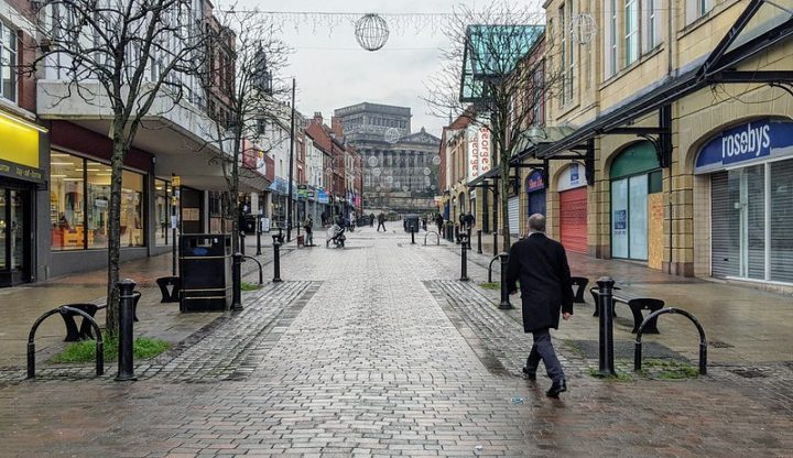 A quiet looking Friargate towards the Harris during lockdown 3 Pic: Tony Worrall