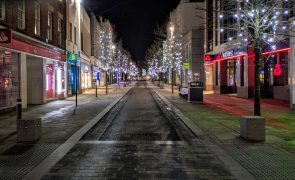 An empty Fishergate during lockdown 3, at 6.30pm on Saturday (16 January 2021) Pic: Tony Worrall
