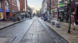 A quiet Preston city centre during lockdown Pic: Tony Worrall
