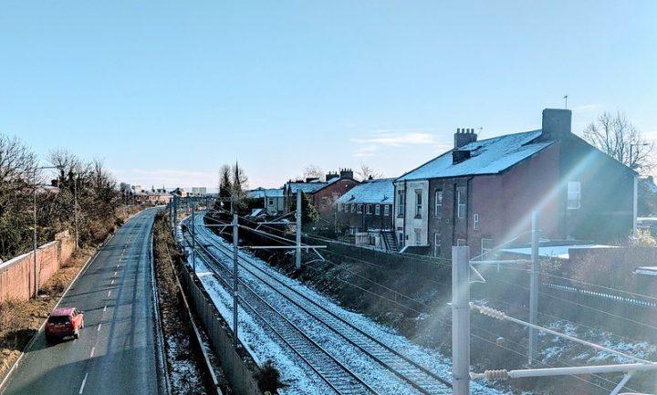 Snowy train tracks in Preston Pic: Tony Worrall