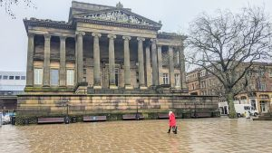 A nearly empty Flag Market in Preston city centre during lockdown 3 Pic: Tony Worrall