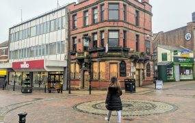 The boarded up Black Horse Pub in Preston city centre during a quiet day in lockdown Pic: Tony Worrall