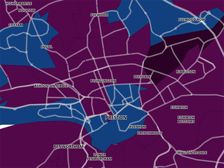 Latest Preston and South Ribble Coronavirus cases map