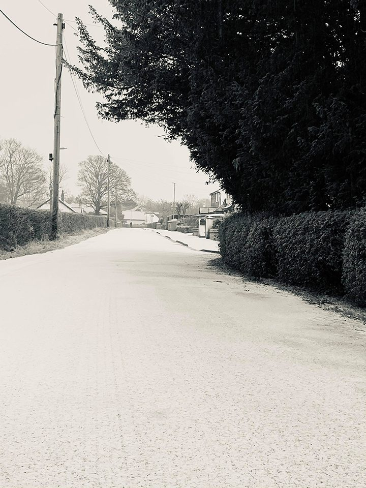 Cottam snow Pic: @greenwoodpeter