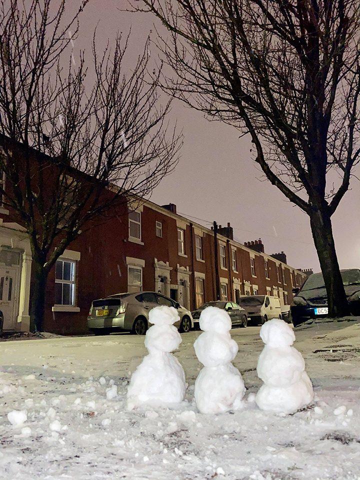 Deepdale snowmen Pic: Irina Umm Katrina