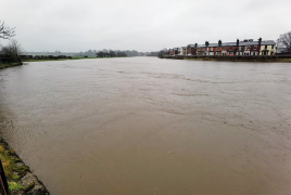 Flooded River Ribble near London Road Pic: @vladivir