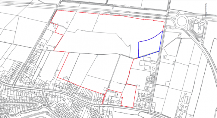 Planning application area. Pic: South Ribble Borough Council