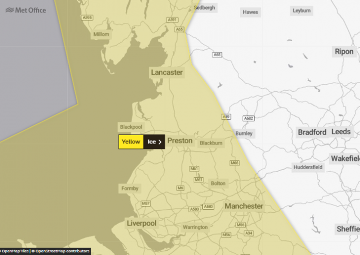 Yellow weather warning. Pic: Met Office