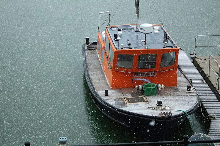 Snow on the Prestonian at the Docks Pic: DocksideGlyn