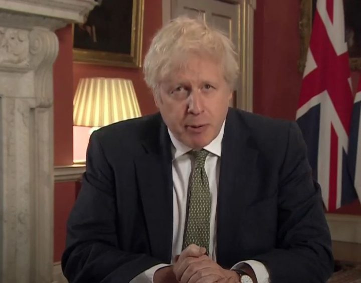 Boris Johnson addressing the national during Monday (4 January) evening Pic: YouTube/DowningStreet