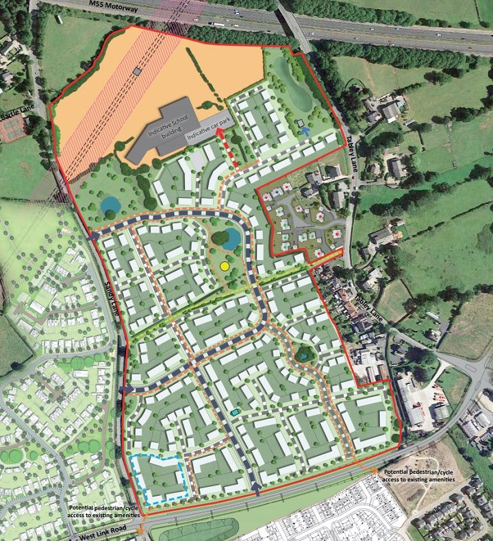 An overview of the proposed development between Cottam and Woodplumpton Pic: Randall Thorp/planning application