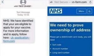 Examples of the kind of scam texts and emails being sent Pic: Lancs Police Fraud and Cyber