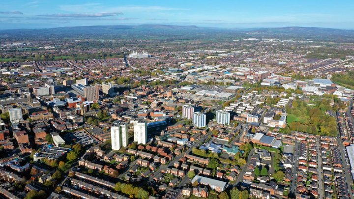 Looking over Preston Pic: Stephen Melling