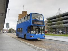 A bus entering the bus-only lane in Tithebarn Street Pic: 70023venus2009