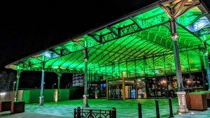 Preston's Market Hall all lit up Pic: Tony Worrall