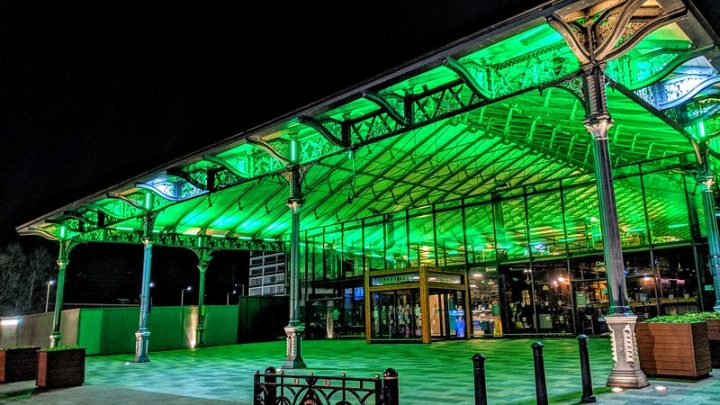Preston's Market Hall all lit up Pic: Tony Worrall