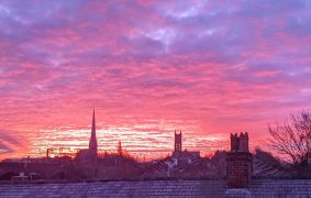 Dawn breaks over Preston on Friday 12 February Pic: Tony Worrall