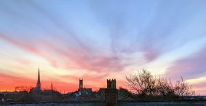 Morning glow over Preston's rooftops Pic: Tony Worrall