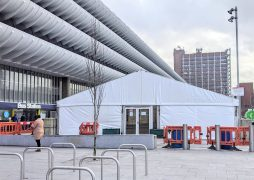 The queuing area for the new vaccine hub will utilise the area between the Bus Station and St John's Shopping Centre Pic: Tony Worrall