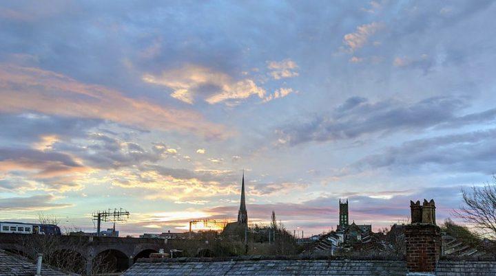 Morning sky over Preston on Tuesday 23 February Pic: Tony Worrall
