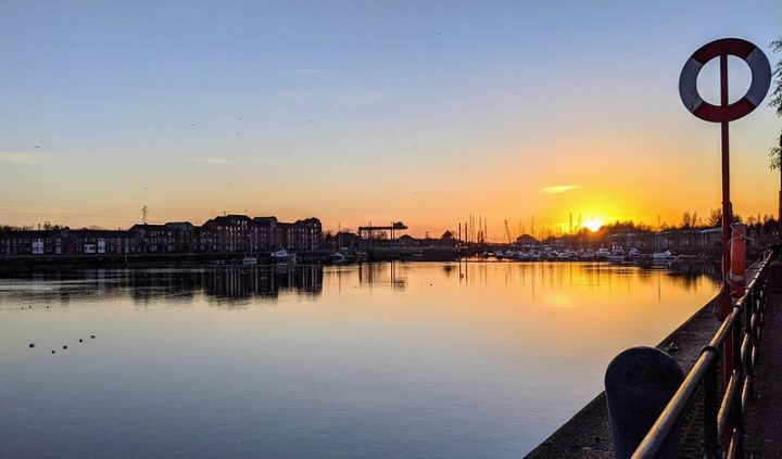 Sunset over the Preston Marina on a sunny weekend in the city Pic: Tony Worrall