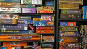 Board game collection Pic: Daniel Burt