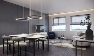 CGI showing the living space inside a Buckingham House apartment Pic: TSS Properties