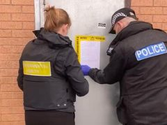 Officers place the Closure Order on Reps Gym