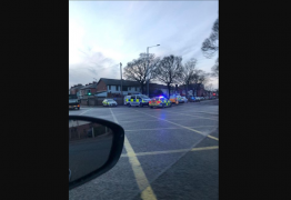 Road collision, Miller Road. Monday 15 February 4:15pm. Pic: Lizzie Wignall